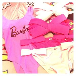 In the PINK 🎀Barbie One piece -🎀-Bow-kini Pink🎀